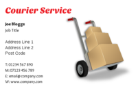Couriers and house movers often use this business card design as it contains parcels