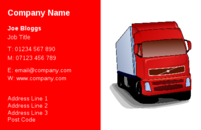 This business card design is suitable for couriers, movers or taxi drivers. The picture of the truck on the business cards will certainly help to get your message across to your customers.