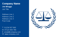 A nice set of scales on these business card templates, make these business cards suitable for Legal professionals, including solicitors, barristers and legal aid workers.