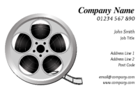 If you handed this business card to any of your clients, because of the film reel, they would have no doubt that you are in the digital arts trade.