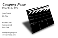 An image of a blackboard on the business card template, makes these business cards usable by either people in film and photography, or even by people in teaching.