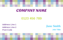 Lovely chequered background business card template.