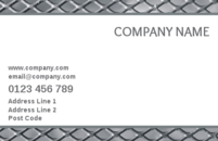 Plain but sophisticated business card template for use by all.