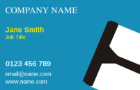 The image of the wiper on these business card designs will let your customers know that you are in the cleaning trade.
