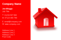 Business card designs for estate agents and other people involved in the property and building trade.