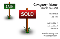 Business card templates for the real estate, property industry.
