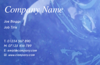 An blue background business card template.