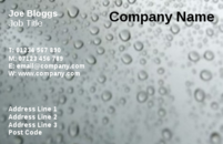 An grey background business card template with bubbles.