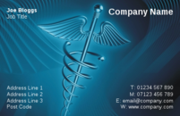 A smart business card design often in the medical profession