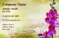 A beautiful business card design often used by florists, beauticians and travel agents.