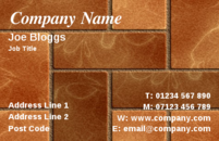 Driveway specialists often use this business card design