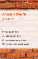 This brick layered business card template is suitable for builders and carpenters.