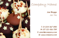 Catering business card template.