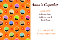 The cub cakes on these business card designs make them suitable for catering and food professionals.