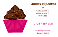 Cupcake business cards. Useful for caterers, cake and coffee shop owners.