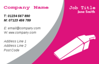 These business card designs are suitable for cleaners, showing a hover in the business cards.