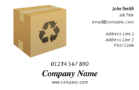 The brown cardboard package or box shown in this design would be an ideal image on a business card for a courier company or an independent courier involved in delivering parcels.