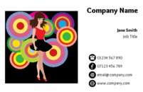 Business card templates for event organisers and fashion designers.