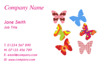 Butterflies on these business card templates make them suitable for hairdressers, beauticians,shoppers, event organisers and fashion designers.