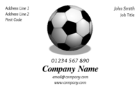 A perfect business card design for a football coach that speaks for itself!