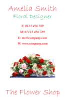Florist business card templates.
