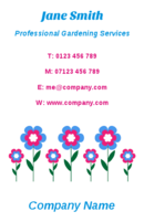 These are florist and gardener business card templates.