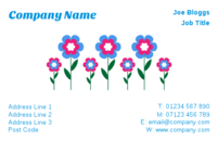 These business cards can be used by florists and gardeners.