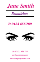 Business card design templates hairdressing beautician page 1 any beautician who can make eyes as lovely as in these business cards certainly wins colourmoves