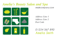 Business card templates to be used by a beauty salon and beauty spas.