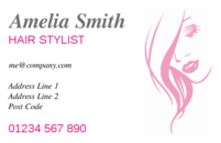 Business card design templates hairdressing beautician page 1 a simply business card design used by hairdressers colourmoves