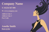 A nice business card design used by beauticians and hair salons.