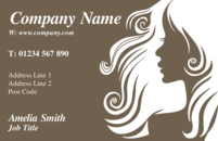 Business card design templates hairdressing beautician page 1 these business card templates for hairdressers wajeb Choice Image
