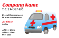 An ambulance in a business card design. Doctors would love this template.