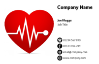 Templates for business cards, that can be used by people in the health industry.