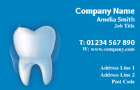A simple business card design for dentists