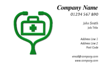 People in the health or medical trade will find these business cards useful. The business card template has an image of a medical bag and stethoscope, that will make the nature of your business very clear to your customers