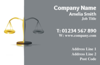 Business card design for lawyers