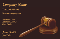 Business Card design for solicitors and barristers