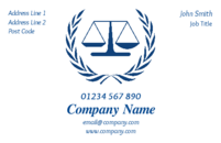 A well designed card showing the legal scales for anyone engaged in providing business within the legal system such as lawyers, barristers, solicitors or law firms.