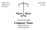 The legal scales in this business card is an excellent design for any law firms or professionals like lawyers, solicitors, barristers involved within the legal system.