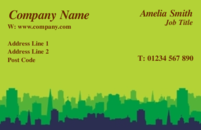 A generic business card design often used by business located in a city or house movers