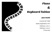 Music teachers will find this business card template interesting.