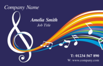 A nice abstract musical note business card design