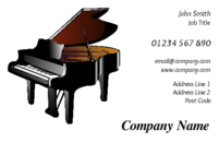 Music teachers or musicians, especially those whose tool is a piano will love these business cards. The image of a piano in the business card template was not easy to find, so hopefully, you will appreciate the template.