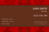 Business card templates for musicians.