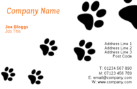 Pet training business card templates.