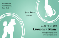 Use this business card design to promote your pet grooming business, pet shop or veterinary clinic.
