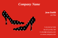 Nothing speaks fashion louder than high heels....this attractive business card design will speak volumes for anyone in fashion industry or organising shopping events.