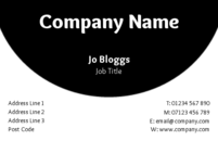 A very straight forward, to the point business card design with a simple black and white background.