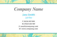 An simple elegant business card template to be used by finance and business professionals.